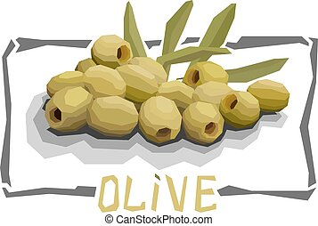 Vector simple illustration of olives. - Vector simple...