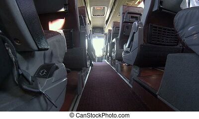 Interior passenger bus group, transportation