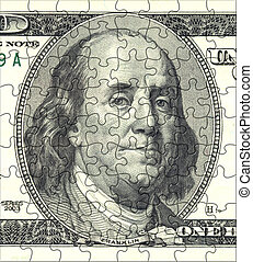 Franklin Puzzle Portrait