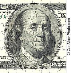 Franklin Puzzle Portrait