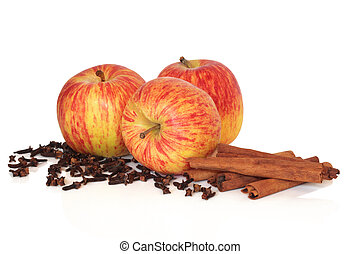 Apples Cinnamon and Cloves - Gala apples with cloves and...