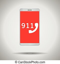 911 call mobile phone symbol