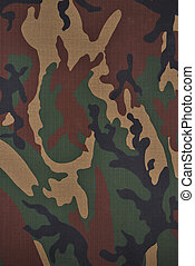 camouflage fabric - Close up camouflage fabric in a vertical...