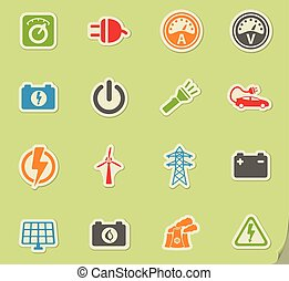 Electricity simply icons - Electricity simply symbol for web...