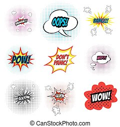 Comic sound effects.