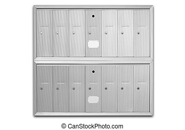 Letterboxes - main letterbox in an apartment building -...