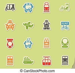 public transport icon set - public transport web icons on...
