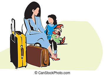family travel - Mother with her daughter