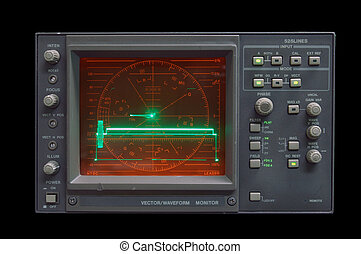 Waveform Monitor - audio vectorwaveform monitor idling -...