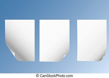 sheets of paper with