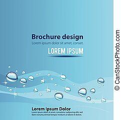 2196 - Water wave with bubbles, illustration