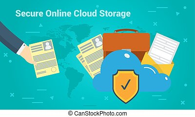 Business Banner - Secure Online Cloud Storage