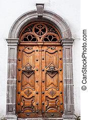 ornate door in Cuenca Ecuador - Ornate architectural feature...
