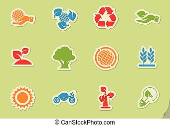 Ecology and recycle icons - Ecology and recycle symbols...