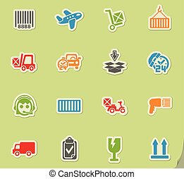 delivery service icon set - delivery service web icons for...