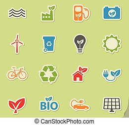 Alternative energy simply icons - Alternative energy simply...