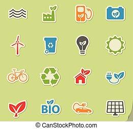 Alternative energy simply icons - Alternative energy simply...
