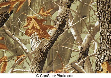 camouflage fabric - Close up camouflage fabric in a...