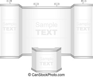 Trade exhibition stand - Vector blank trade show booth for...