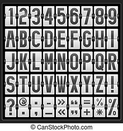 alphabet of mechanical panel
