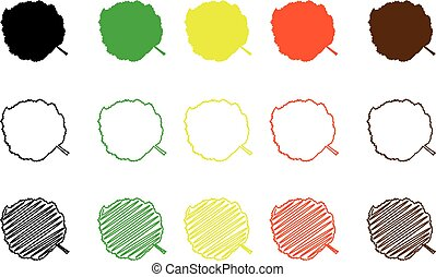 Hazel leaf  color set - Hazel leaf - color set, hazel leaf,
