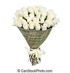 Flower bouquet of white roses