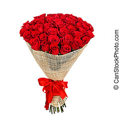 Flower bouquet of 50 red roses