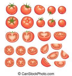 tomaten, Kollektion, isolerat