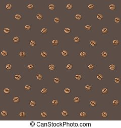 coffee beans pattern - Coffee beans seamless background.