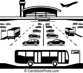 Airport parking transfer buses