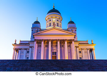 Lutheran Cathedral Church in Helsinki, Finland - Famous...