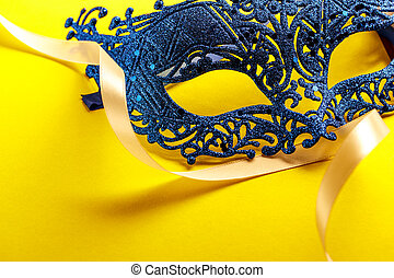 Single carnival disguise mask in close up