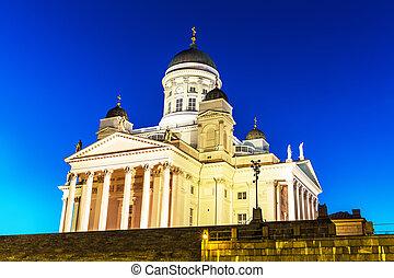 赫爾辛基, 路德教會,  finland, 大教堂, 教堂