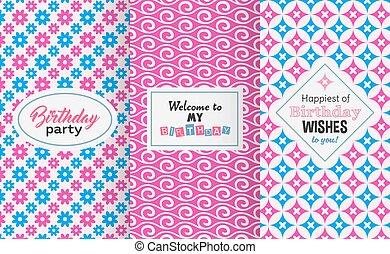 Chic birthday pattern
