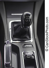 Gearshift knob with shallow depth of field - Mechanical...