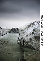 Stuning Winter landscape image of Chrome Hill and Parkhouse...