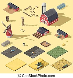 Elements of the infographic of the agrarian industry...