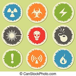 Hazard Sign Icons - Hazard simply symbols for web and user...