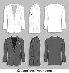 Mens suit - Vector illustration. men's suit design template