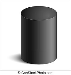 cylinder - realistic cylinder with shadow on white...