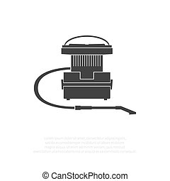 Old vacuum cleaner isolated on background. Vector...