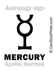 Astrology: planet MERCURY - MERCURY (Apollo-Hermes)