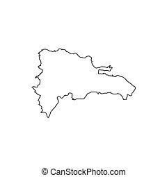 Dominican Republic map silhouette