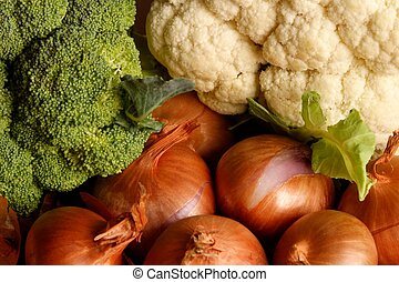 Vegetable assortment - Assorted vegetables on a table