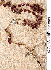 Cuentas, rosario, Plano de fondo,  Textured