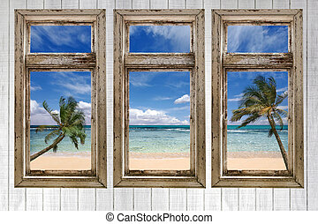 Ocean View From a Vintage Cottage - Beach View From a...