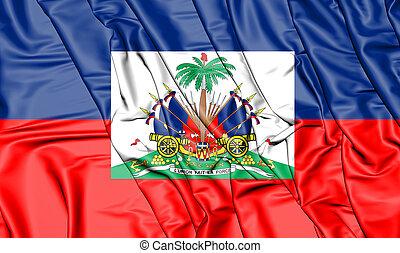 3D Flag of the Haiti. 3D Illustration.