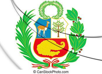3D Peru Coat of Arms. 3D Illustration.