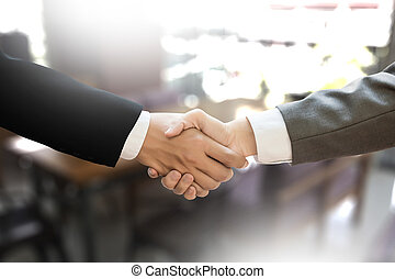 M&A (MERGERS AND ACQUISITIONS) , Businessman handshake...