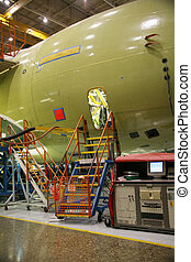 Worker Access to Airplane in Production - Inside Aerospace...